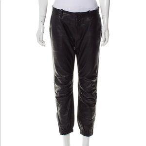 Nili Lotan Skinny Leg Leather Pants